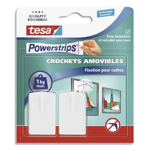 Tesa bo te de 2 crochets powerstrips pour fixer cadres tableaux blancs 2 l - Crochets adhesifs pour tableaux ...