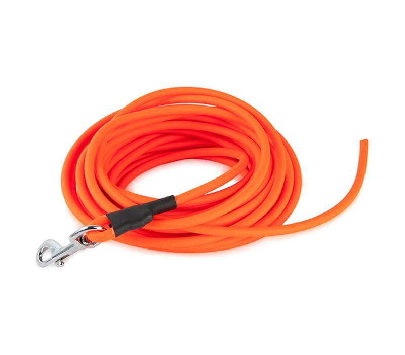 LAISSE RONDE EN PVC POUR CHIEN - NYLON ENDUIT DE PVC - LONGUEUR 5 M Ø6 MM