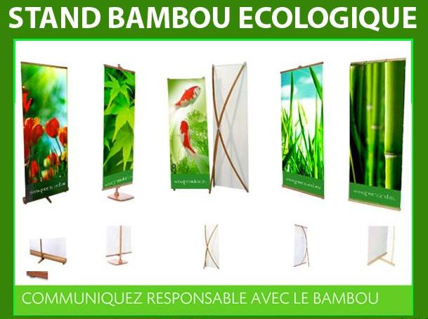 stand ecologique en bois et bambou. Black Bedroom Furniture Sets. Home Design Ideas