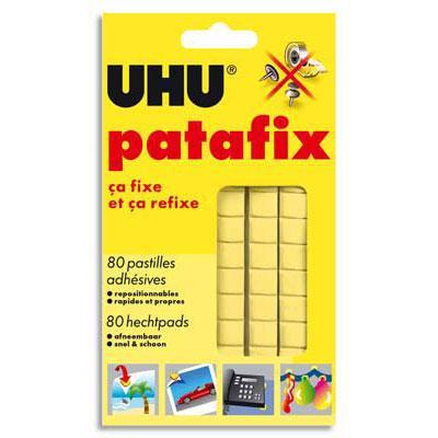 Idée Custom Adhesifs-de-fixation-etui-de-80-pastilles-adhesives-patafix-uhu-jaune-ecole-680814