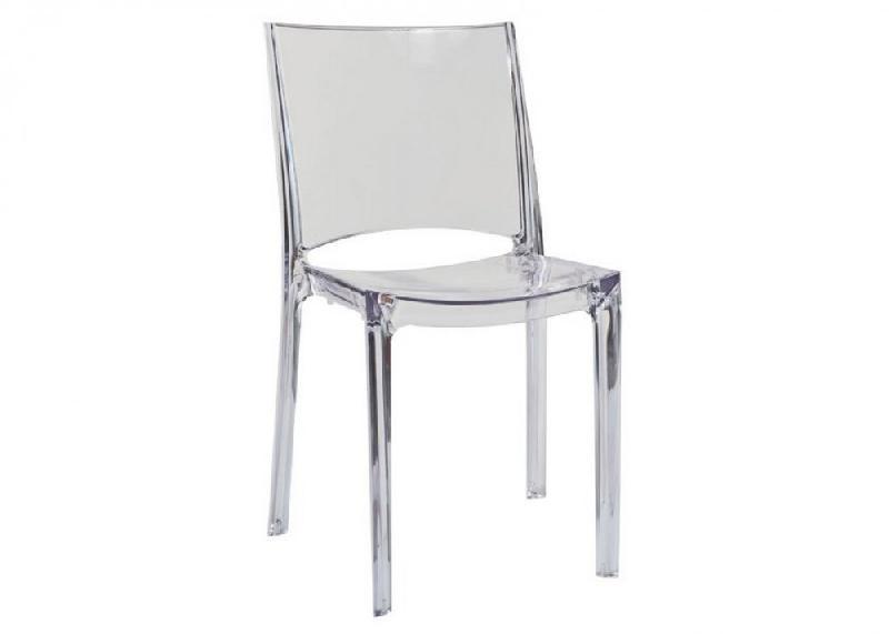 Chaises de maison inside 75 achat vente de chaises de for Chaise pvc transparente