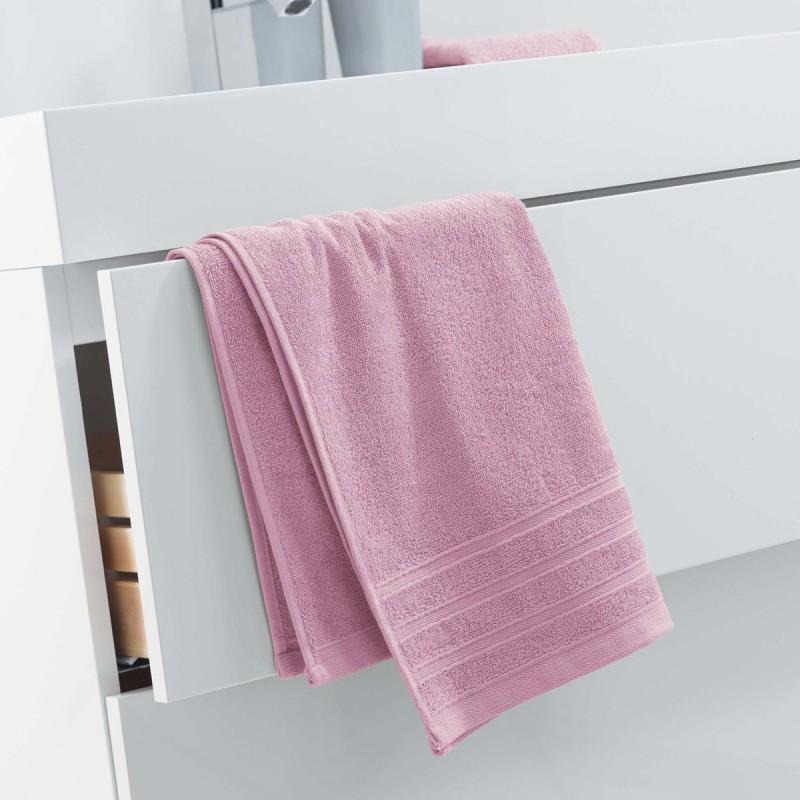 Serviette de toilette vitamine 50x90cm rose dragée - paris prix