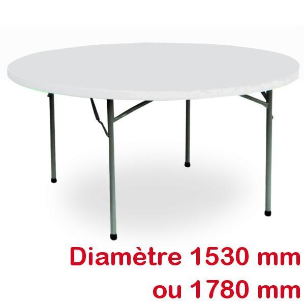 Table ronde pliante - Table pliante ronde ...