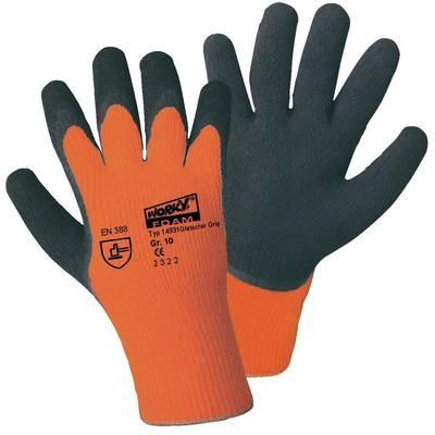 GRIFFY 14931 GANTS DE PROTECTION GLACIER GRIP ORANGE-FLUO 100% ACRYLIQUE ET REVÊTEMENT EN LATEX NATUREL EN 388 RISQUES
