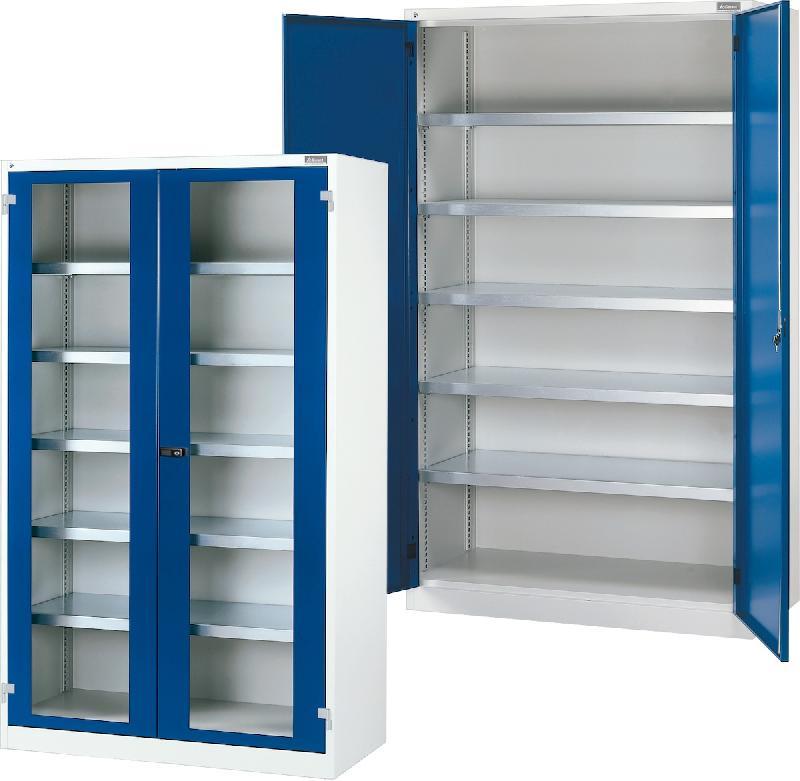 Armoire combinable avec portes battantes en tole de base for Les portes logiques de base