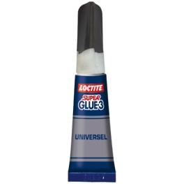 COLLE SUPER GLUE 3 ORIGINAL LOCTITE EN TUBE 3 GR