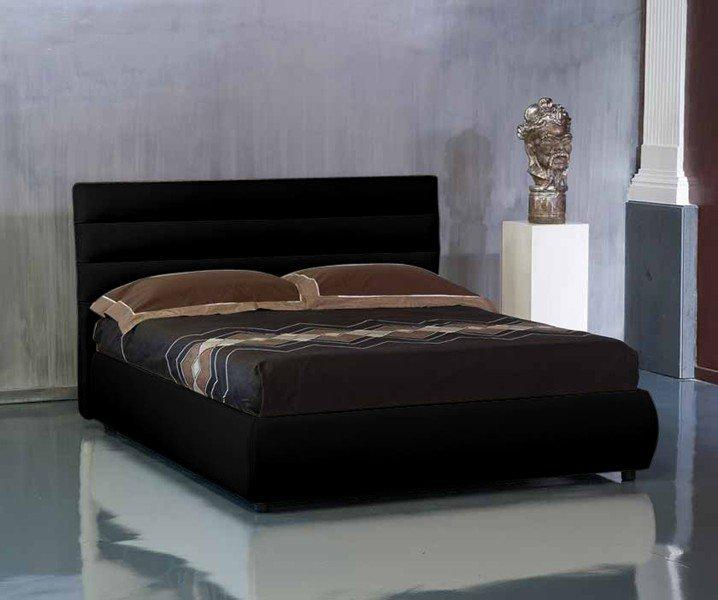 lit coffre design elisabetha noir couchage 2 personnes 120. Black Bedroom Furniture Sets. Home Design Ideas