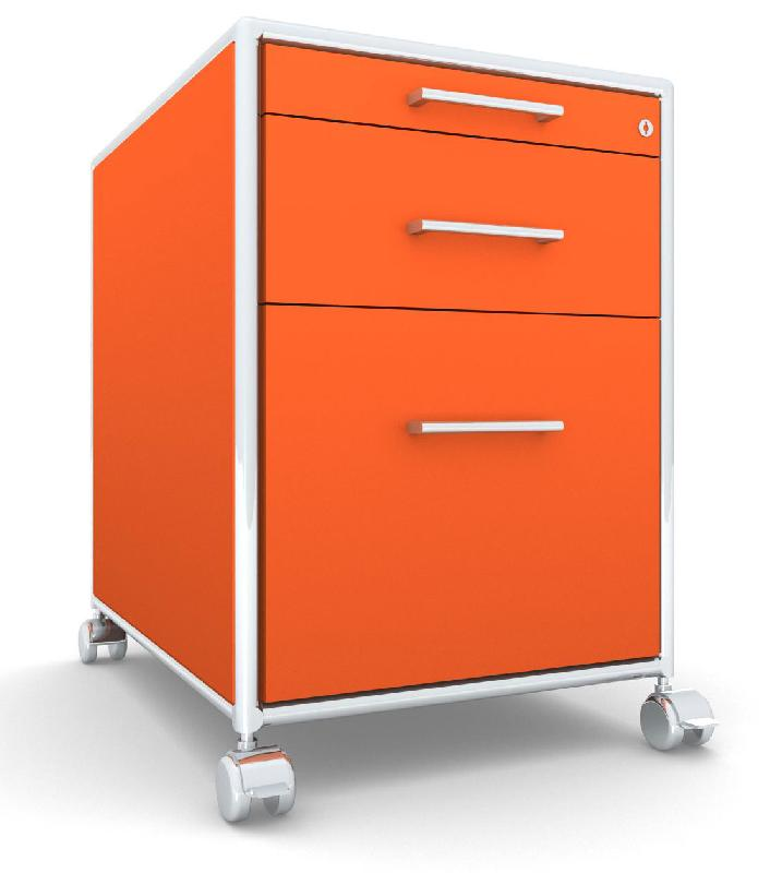 modul space caisson a roulettes 1 tiroir 1 dossiers suspendus orange. Black Bedroom Furniture Sets. Home Design Ideas