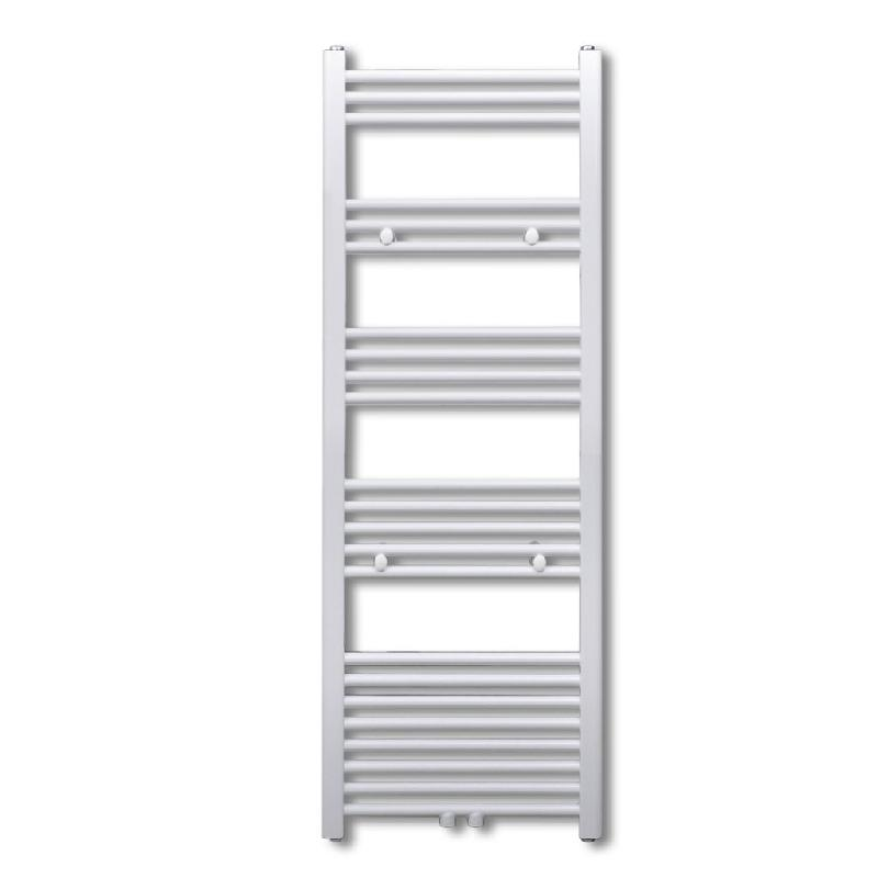 Radiateur sèche-serviettes circulation d\'eau chaude hauteur 116 cm salle de bain blanc 3202016