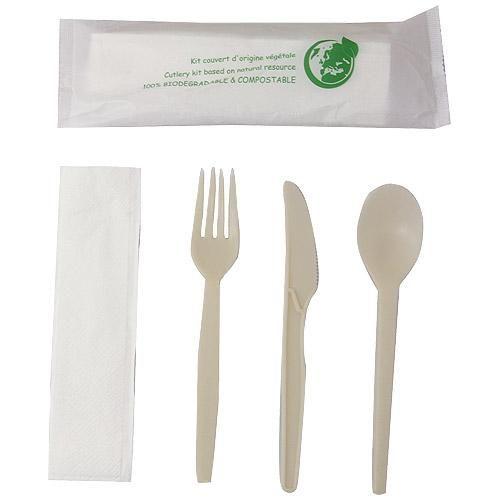 Sachet couverts luxe 4 en 1 biodegradable comparer les for Couvert de table luxe