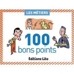 BOÎTE DE 100 BONS POINTS THÈMES LES MÉTIERS AVEC TEXTE PÉDAGOGIQUE FORMAT 6,2X8,2CM