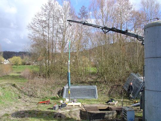 Station de pompage issue de forage d'eau