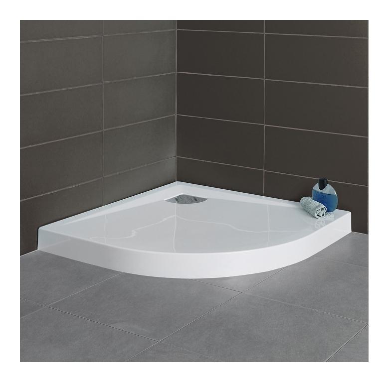 receveur de douche 1 4 rond 100x100 kinecompact blanc kinedo comparer les prix de receveur de. Black Bedroom Furniture Sets. Home Design Ideas