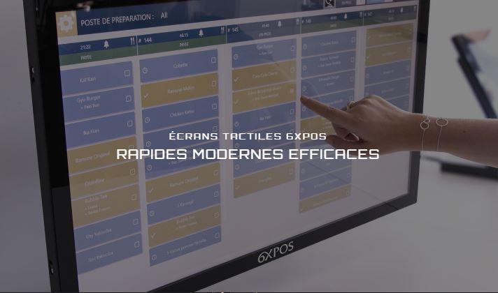 Ecran tactile rapide moderne efficace 6xpos