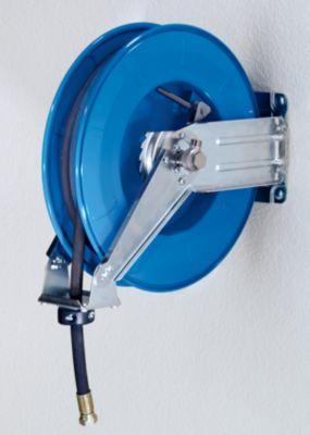 enrouleur de tuyau pour air eau et huile sans rev tement en t le d 39 acier longueur tuyau 10 m. Black Bedroom Furniture Sets. Home Design Ideas