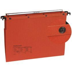 lot de 10 dossiers suspendus kraft bouton pression pour tiroir fond v l 39 oblique az orange. Black Bedroom Furniture Sets. Home Design Ideas