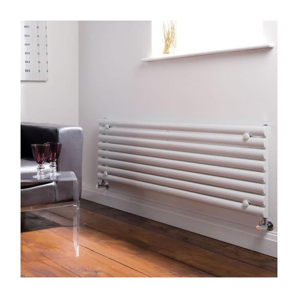 radiateur design horizontal blanc vitality 47 2cm x 160cm x 3cm 1065 watts hudson reed. Black Bedroom Furniture Sets. Home Design Ideas