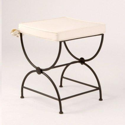 tabouret bas en fer forge betty. Black Bedroom Furniture Sets. Home Design Ideas