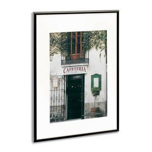 photo album company cadre photo contour alu noir plaque transparente incassable format 50x70 cm. Black Bedroom Furniture Sets. Home Design Ideas
