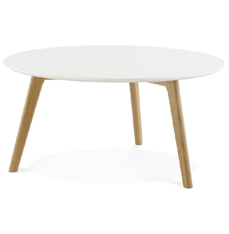 Table basse de salon ronde 39 kofy 39 style scandinave for Table basse scandinave salon