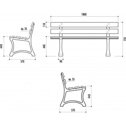 leader equipements produits de la categorie bancs publics en bois. Black Bedroom Furniture Sets. Home Design Ideas