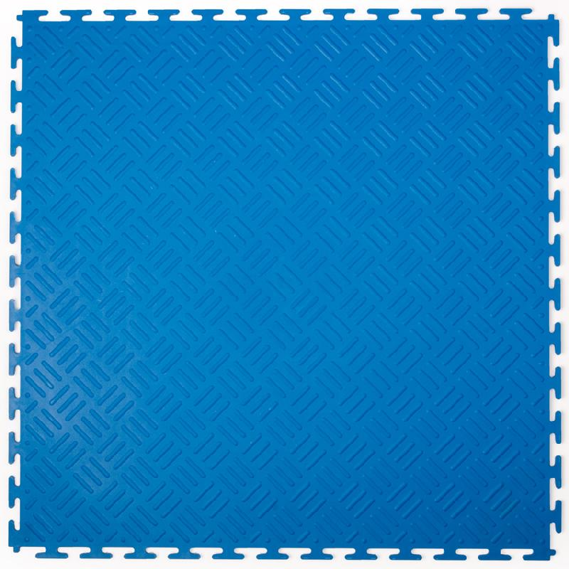 DALLES PVC CHECKER BLEU