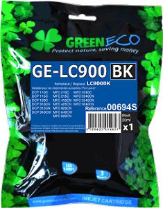 GREENECO 00694S : CARTOUCHE D'ENCRE NOIRE COMPATIBLE BROTHER LC900BK