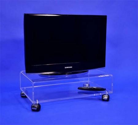 meuble tv sur roulettes cristal ref. Black Bedroom Furniture Sets. Home Design Ideas