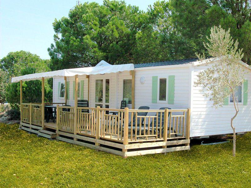 Terrasse mobil home 1 2 couverte 7,50 x 2,50 # Terrasse Bois Mobil Home