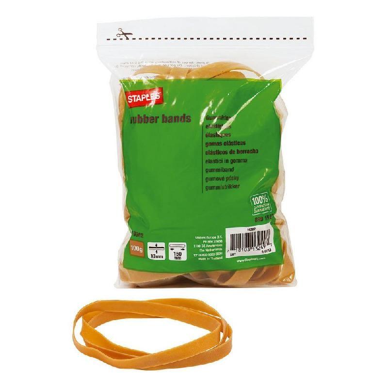 WONDAY Boite de 100g Elastique Bracelets caoutchouc 100 x 1,8 mm Blond