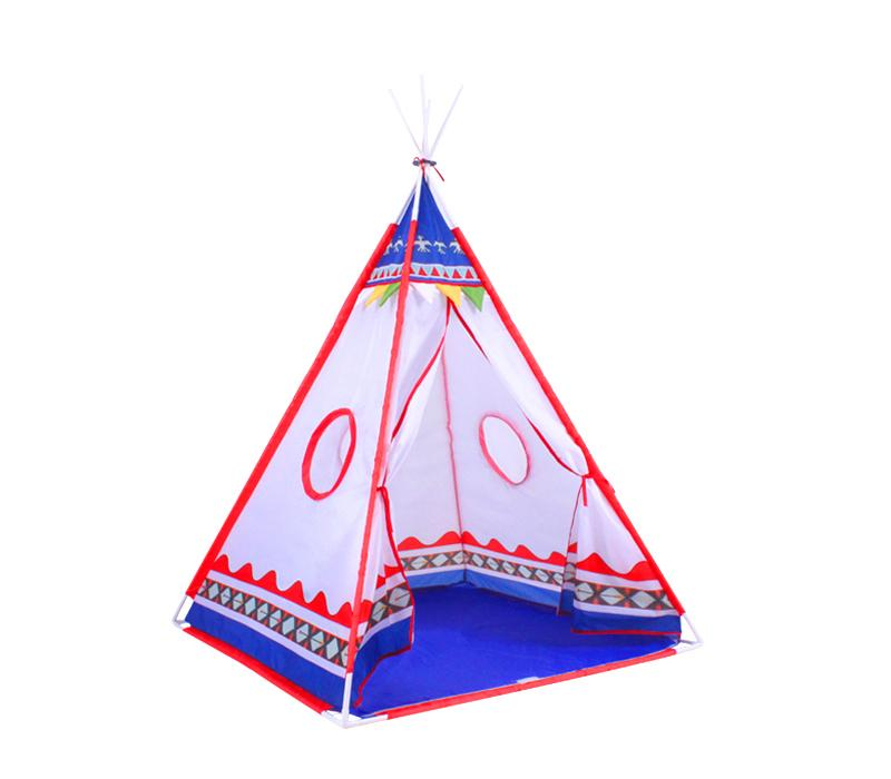 tente tipi d 39 indien pour enfants rouge et bleu comparer. Black Bedroom Furniture Sets. Home Design Ideas