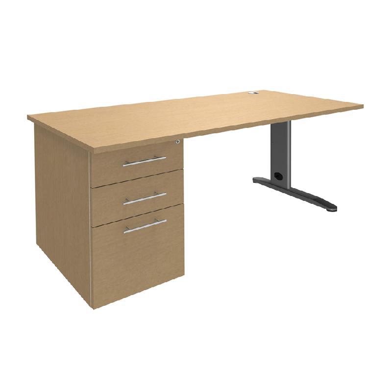 Bureau plan compact avec caisson tous les fournisseurs for Bureau 80x60