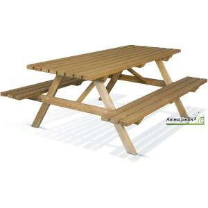 Table pique nique en bois - 0100003