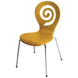Clb 110 Chaise De Restauration Coque Bois Empilable Forme Originale Couleur Au Choix