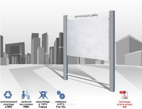 Panneaux d 39 affichage exterieur lythe libre 2h 2m horizontal for Panneaux publicitaires exterieur
