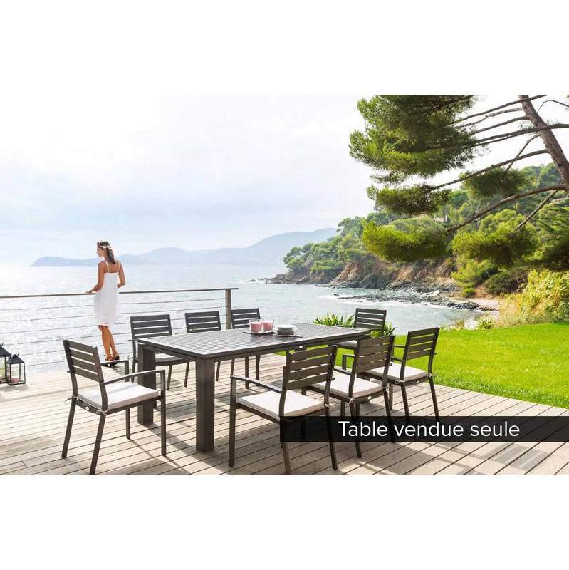 TABLE DE JARDIN RECTANGLE GREENSBORO 110 X 70 CM MARSALA ...