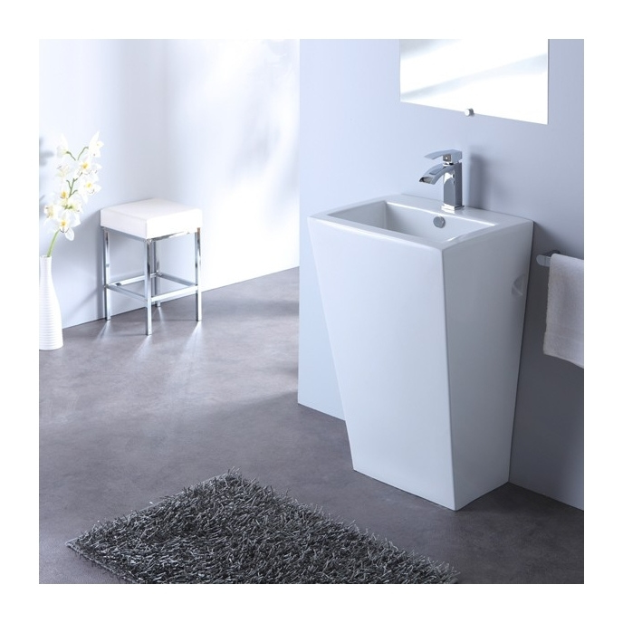 lavabo sur pied carr design totem blanc planetebain comparer les prix de lavabo sur pied. Black Bedroom Furniture Sets. Home Design Ideas