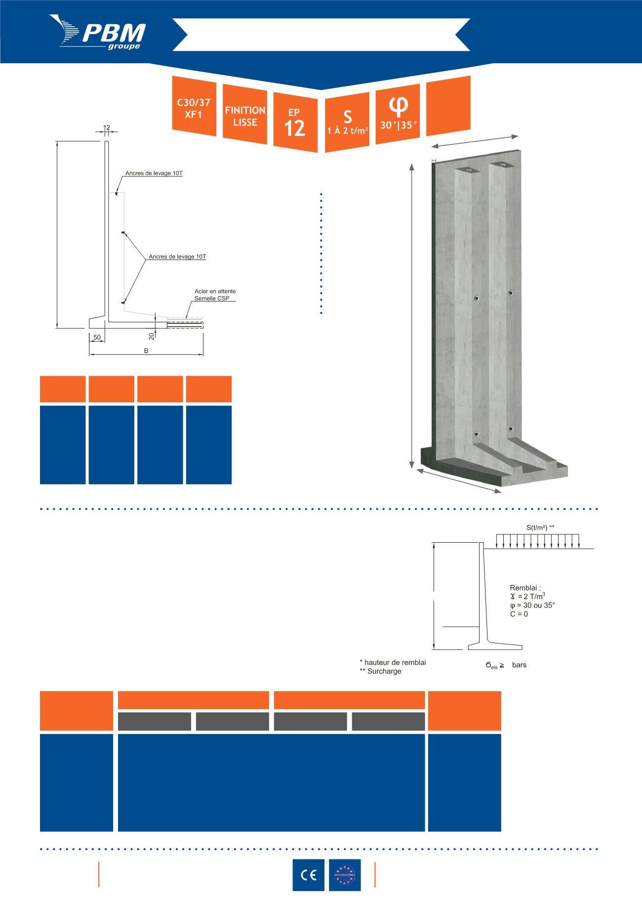 prefa 26 produits elements prefabriques pour mur de. Black Bedroom Furniture Sets. Home Design Ideas