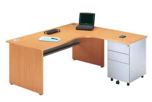 bureau angle avec retour droite et caisson gamme primo h tre. Black Bedroom Furniture Sets. Home Design Ideas