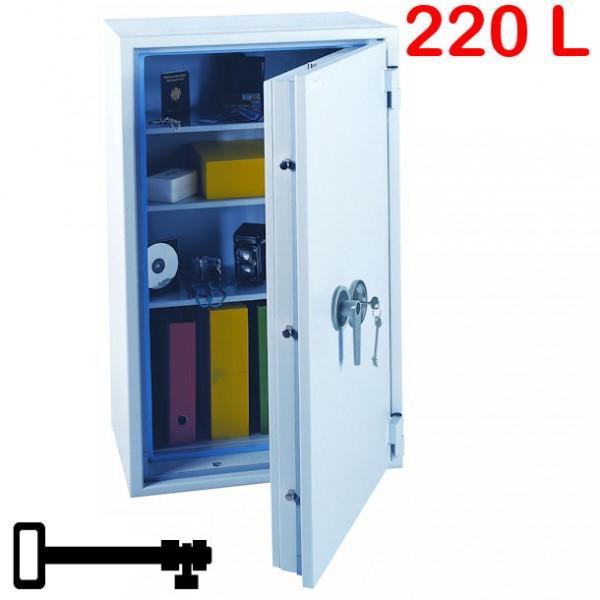 coffre fort anti vol et anti feu 220l a cle. Black Bedroom Furniture Sets. Home Design Ideas