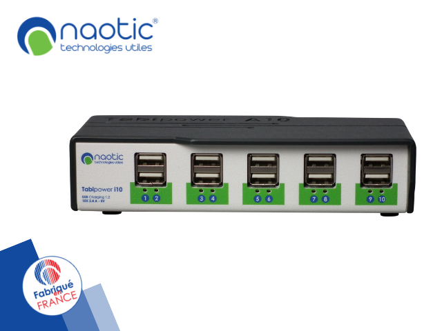 Hub 10 ports pour charge d'appareils mobiles tabipower a10