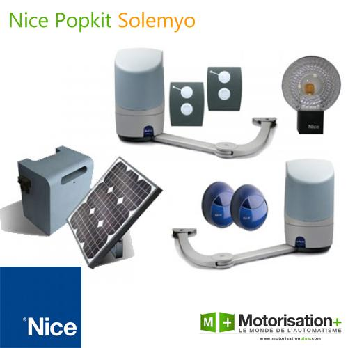 motorisation portail 2 battants nice popkit kit solaire. Black Bedroom Furniture Sets. Home Design Ideas