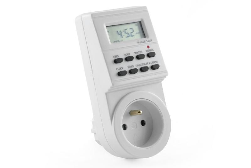 Prise 220v programmable lectronique 20 plages horaires - Prise electrique programmable ...