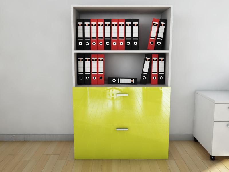 armoire mi haute mixte pour dossiers suspendus melo l90. Black Bedroom Furniture Sets. Home Design Ideas