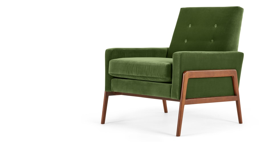cecil fauteuil velours vert imperial. Black Bedroom Furniture Sets. Home Design Ideas