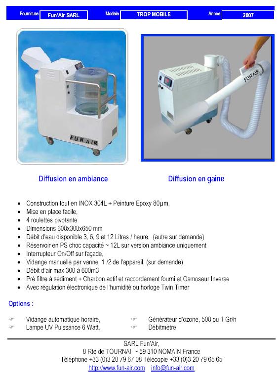 Humidificateur par ultrason