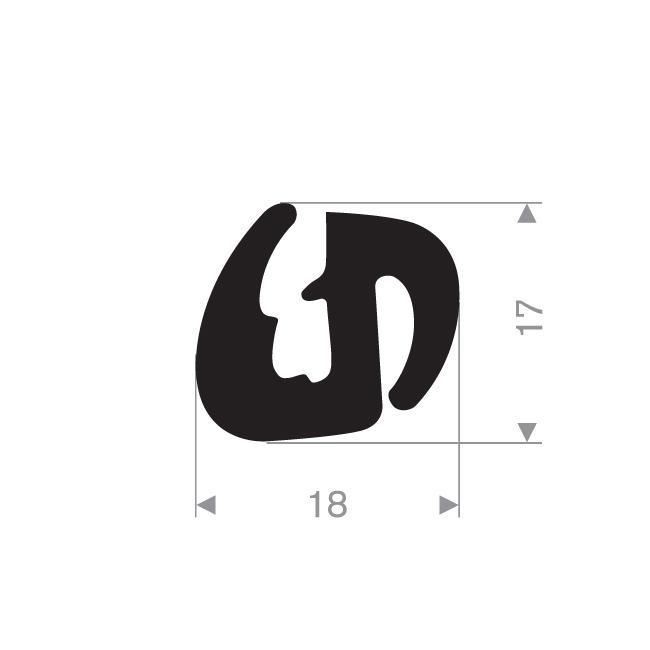 Joint de fen tre caoutchouc compact 18 17 mm comparer for Joint caoutchouc fenetre