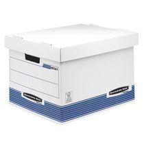 CAISSE ARCHIVES CARTON BANKERS BOX BY FELLOWES H 29,5 X L 40,1 X P 33,5 CM STANDARD BLEUE - LOT DE 10