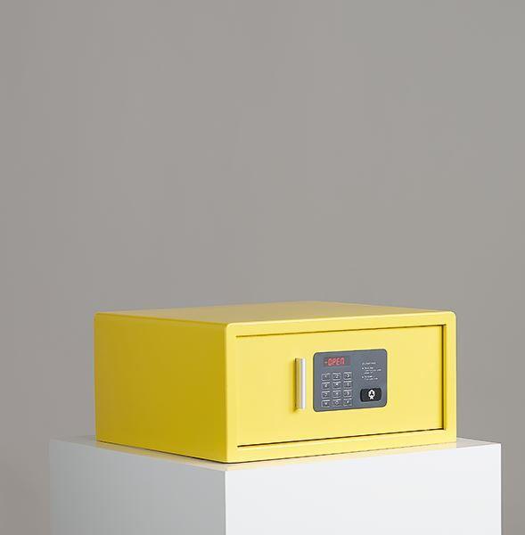 Coffre-fort laptop jaune ral1018