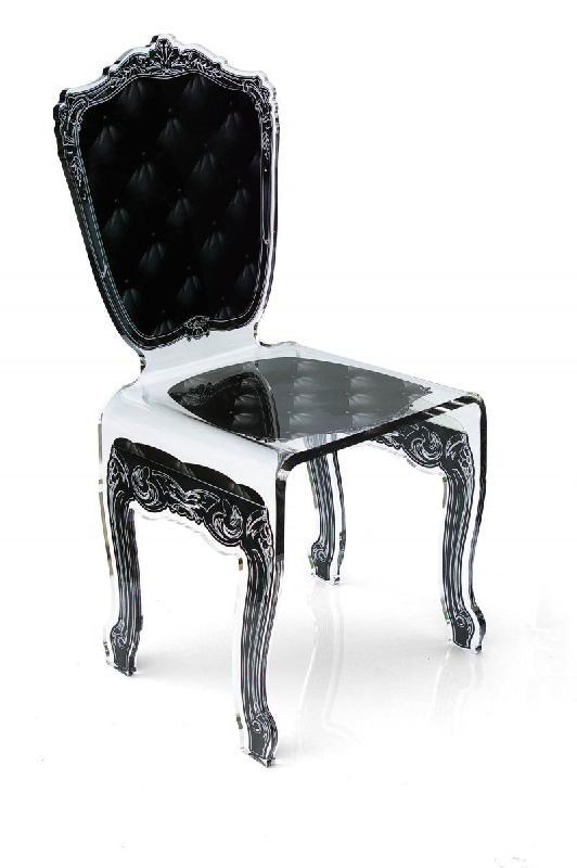 capiton chaise en plexi noire par acrila. Black Bedroom Furniture Sets. Home Design Ideas